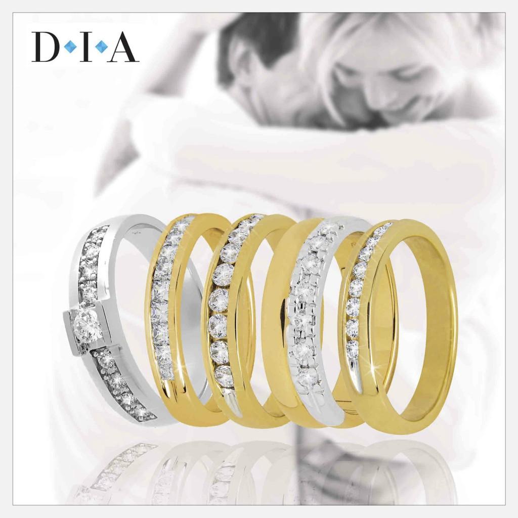 DIA Kuld Artur kihlasõrmused, abielusõrmused