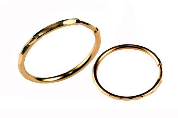 Kuld Artur kullast teemantlihviga kõrvarõngad