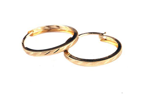 Kuld Artur kullast teemantlihviga kõrvarõngad suur lill