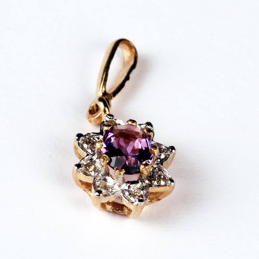 Ametüsti ja teemantidega kuldripats