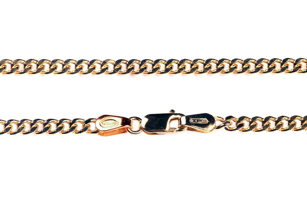 Kuld Artur kullast pansser punumisviisiga kaelakett 50 cm