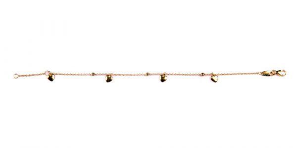 Kuld Artur kullast südametega käekett 14-16cm
