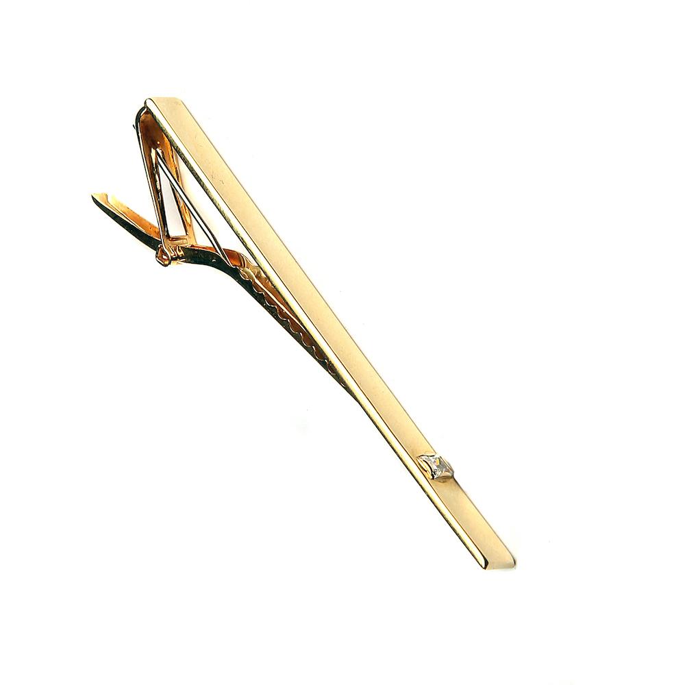 Kingiideed koolilõpetajatele_Kuld Artur kullast tsirkooniga lipsunõel