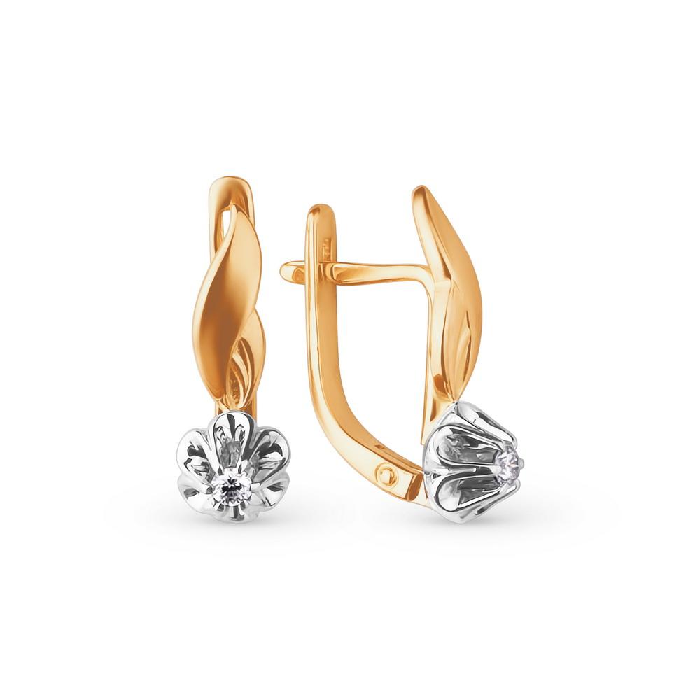 Kuldkõrvarõngad teemantitega Kostroma