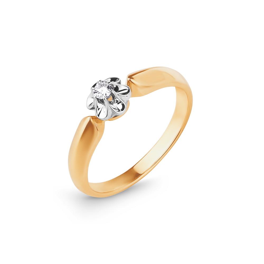 Kuldsõrmus teemantiga kaubamärgilt Kostroma, erinevad suurused