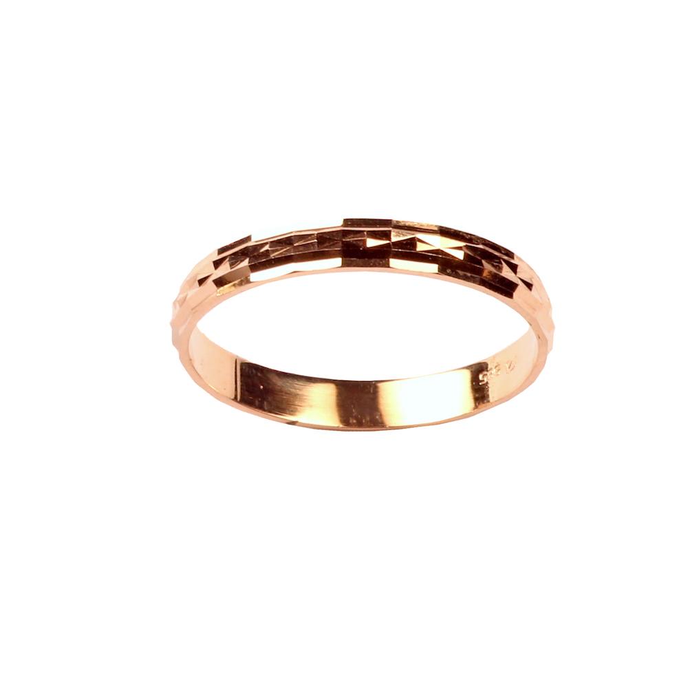 Teemantlihvitud kullast abielusõrmus 19.5 mm