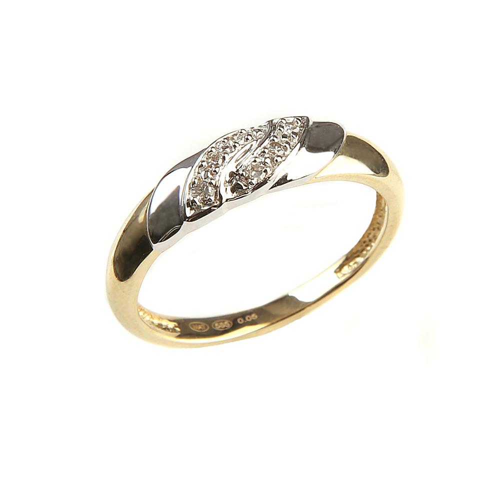DIA teemantidega kuldsõrmused